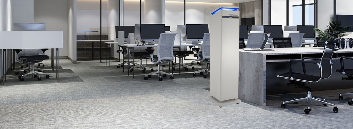 VIRUSKILLER Air Purfier in a large to medium sized office