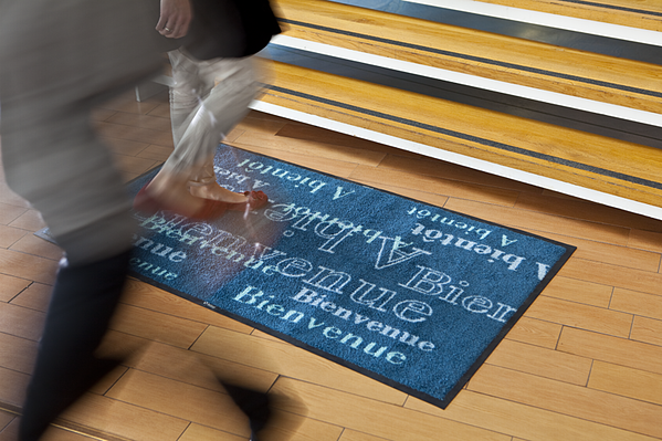 Hygienic logo mat from Initial Hygiene to make a big impact on your businesses reception area